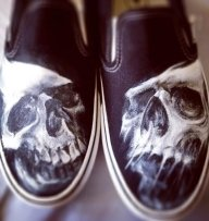 Airbrush on shoes - Just Stuff