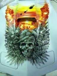 Custom Car Painting - Car Airbrushing - Airbrush Artwoks