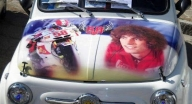 Simoncelli Tribute on Fiat 500 MITICA!!! - Favorite Art