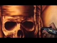 Airbrushing Monochromatic Pirate on Canvas w/ Cory Saint Clair - YouTube - Airbrush Videos