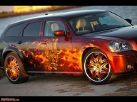 Dodge Cats Roar Magnum 2005 Airbrush - Airbrush Artwoks