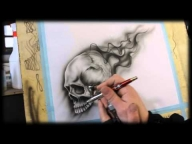Airbrush Anleitung für Anfänger - How To airbrush for beginners - Skull Videotutorial - YouTube - Airbrush Videos
