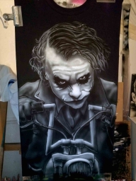 joker tshirt step by step - Airbrush Step by Step