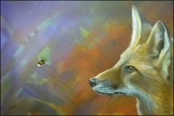 The Fox and the Fly done by Ashley Brayson using Badger Renegades - Airbrush Fine Art
