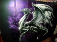 AIRBRUSH PAINTING - DRAGON ON BONNET - STEP BY STEP by il mitico DM Aerografie - Airbrush Videos