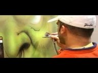 "Steve Nunez airbrushes a ""Warcraft Orc"" with Alsa Corp Paint - YouTube - Airbrush Videos"