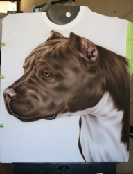airbrushed pits - Pitbulls - Photorealism