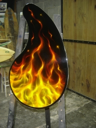 REAL TRUE FIRE COFFEE TABLE by FENO - Kustom Airbrush