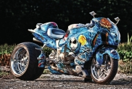 Wallpaper suzuki hayabusa, tuning, airbrush, suzuki, sport bike - Airbrush Artwoks
