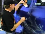 The amazing Mike Lavallee on Overhaulin airbrushing blue flames - YouTube - Airbrush Videos