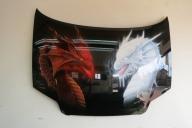 Cofano Dragoni - Airbrush Artwoks