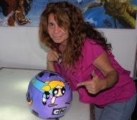 casco aerografiado  con comics - Kustom Airbrush