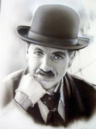 Chaplin ritratto (Aerografie, Dipinti) - Favorite Art