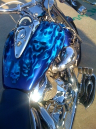 Dallas Airbrush - Airbrushed Bikes - Airbrush Artwoks