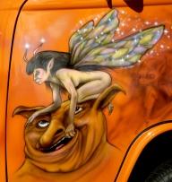 "Kombi called "" Twisted Pixie""  Passenger door   - AUTO ART"