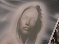 Airbrushing on Chrysler 300C airbrush mural: Part 1 - Airbrush Step by Step