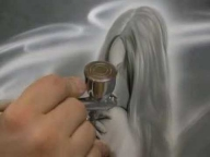 Detail Airbrushing on Chrysler 300C airbrush mural: Part 2 - Airbrush Step by Step