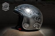 "Custom Helmet ""Old School n°1.2"" - Unexpected Custom - Fine Arts Unlimited ...for Bikers - Kustom Airbrush"