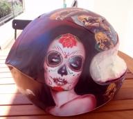 Helmet airbrush Sylvia Ji by cultairbrush - Airbrush Artwoks