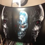Terminator bonnet / hood complete, ready for clear.  - Kustom Airbrush