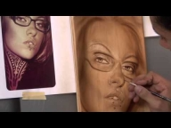 Monochromatic Candy Portrait Airbrushing w/ Cory Saint Clair - Airbrush Video Tutorials