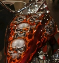 Gnarly Gas Tank Paint | Totally Rad Choppers - Airbrush Artwoks