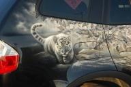 Airbrush BMW X3 - Airbrush Tigers - Airbrush Artwoks