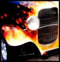 Real Flames onKustom hot road - Top Airbrush Artwork on the Web