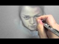 Arya Stark Time Lapse Airbrush Painting - Michael Calandra - Airbrush Videos