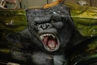 Kong - Airbrush kustom painting - Fotorealismo