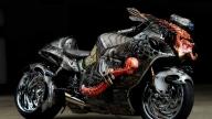 Design Hand Airbrush Skull Sportbike - Photorealism