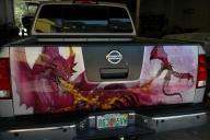 Airbrush Custom dragons   David Webster - Airbrush Artwoks