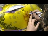 Atelier Meijer - Motorcycle sidecase airbrush - Airbrush Videos
