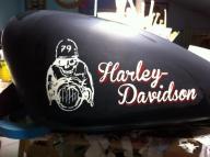 HARLEY PINSTRIPING - Airbrush Artwoks