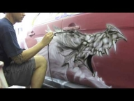 Airbrushed Evo X Dragon by Killer Kreations - Airbrush Videos