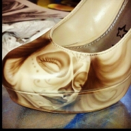 Kustom Airbrush on shoes - Kustom Airbrush