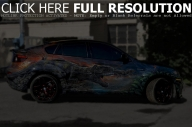 BMW X6M Hamman Car Airbrush - Airbrush Art