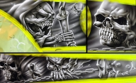 Character Design, Logo Design, Airbrush Graffiti Murals, Graphic and Web Design - Enok Labs - Tuning Cars Airbrush