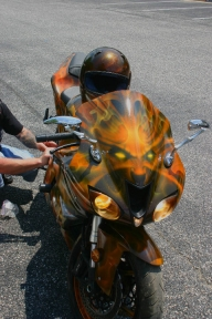 Front of TruFlames bike - Airbrush Artwoks