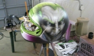 Joker Helmet - Airbrush Artwoks