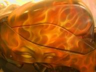 Side of TruFlame bike - Airbrush Artwoks