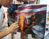 Custom Airbrushing by Space City Airbrush - Houston Airbrush Artists - Custom Paint, Custom Motorcycle Paint, Custom Car Paint, Murals, Leather Jackets - Airbrush Artwoks