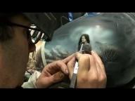 Indian native airbrush painting Harley Davidson video apprendre à peindre à l'aérographe - Airbrush Videos