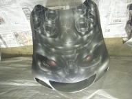 Front of BioHazard Bike - Airbrush Artwoks