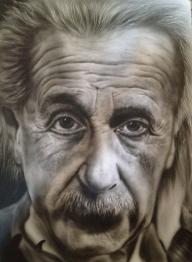 Historical Genius: Albert Einstein | Airbrush History - Photorealism