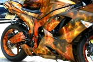 TruFlames bike - Airbrush Artwoks
