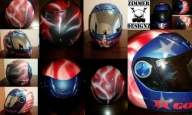 "Custom painted ""In God We Trust"" motorcycle helmet by ZimmerDesignZ.com - My Designs"