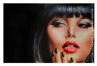 airbrush portrait on schoeller, cm.40x60 - Airbrush Artwoks