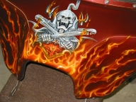 truefire on fairing - My Airbrush Art