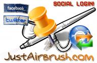 NEW! Da oggi potete REGISTRARVI o ACCEDERE a JustAirbrush.com in pochi secondi con i vostri account di Facebook & Twitter! - This Is My Life